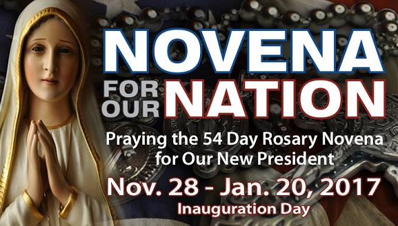 Join the Novena for Our Nation – Praying Grace Into Our New President!